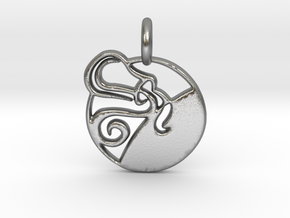 Astrology Zodiac Aquarius Sign in Natural Silver