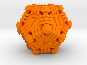 D12 - Andrew Bell 3d - Geometric1 in Orange Processed Versatile Plastic