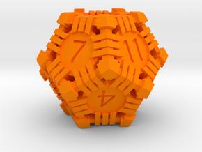 D12 - Andrew Bell 3d - Geometric1 in Orange Processed Versatile Plastic