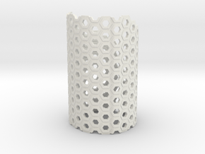 Brace Hexa in White Natural Versatile Plastic