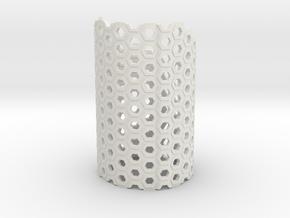 Brace Hexa in White Natural Versatile Plastic