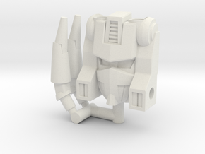 Sari Titanmaster Face (Titans Return) in White Natural Versatile Plastic