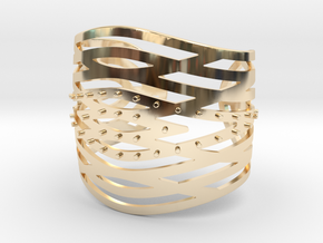 Crisscross Cuff in 14k Gold Plated