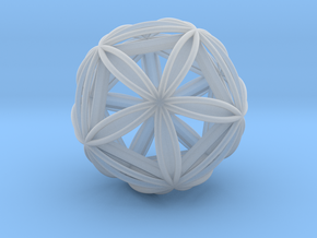 Icosasphere w/ Nested Icosahedron in Smooth Fine Detail Plastic