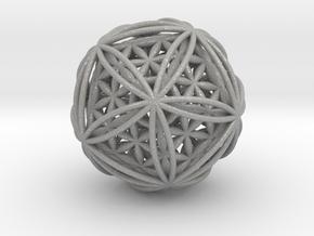 Icosasphere w/ Nested Flower of Life Icosahedron in Aluminum