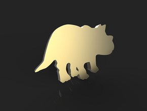 Triceratops Baby Earrings in 14k Gold Plated Brass
