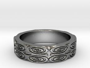 Dwennimmen (strength) Ring Size 7 in Fine Detail Polished Silver