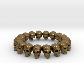 Skulls ring in Natural Bronze: 7.5 / 55.5