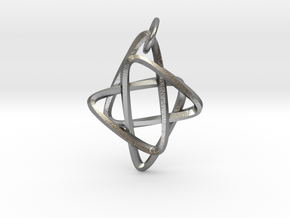 Star of Mobius in Natural Silver (Interlocking Parts): Small