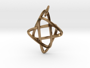 Star of Mobius in Natural Brass (Interlocking Parts): Small