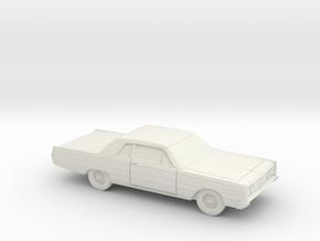 1/87 1966 Mercury Monterey 2 Door Sedan in White Natural Versatile Plastic