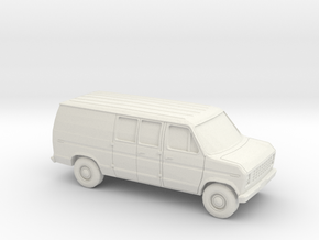 1/43 1975-91 Ford E-Series Delivery Van in White Natural Versatile Plastic