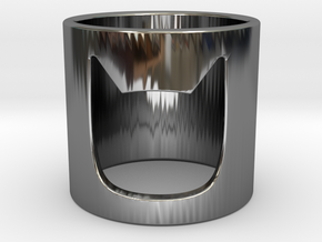 Batman Ring in Fine Detail Polished Silver