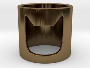 Batman Ring in Polished Bronze