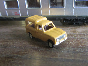 Renault 4 van 1:160 Scale (Lot of 2 cars) in Smooth Fine Detail Plastic