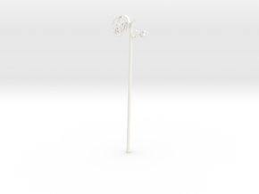 "Wedding Cake Pop ""Mrs"" in White Processed Versatile Plastic"