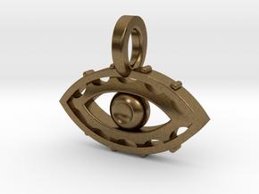 Evil Eye charm in Natural Bronze
