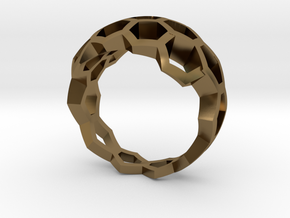 Honeycombs ring / size 20 HK /9 US (19.4 mm) in Polished Bronze