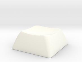 1SD  (with bump) ALPS/Matias compatible DSA keycap in White Processed Versatile Plastic