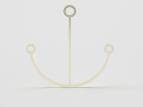 Minimalist Anchor Pendant in 14k Gold Plated Brass