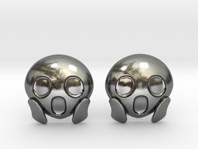 OMG Emoji in Polished Silver