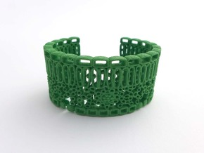 Leaf Anatomy Cuff - Science Jewelry in Green Strong & Flexible Polished: Medium