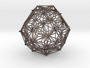 Geometric Ornament  in Polished Bronzed Silver Steel