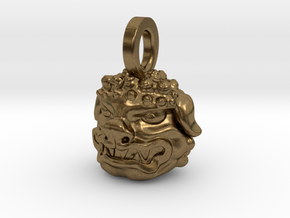 Foo Dog charm by Bixie Studios in Natural Bronze