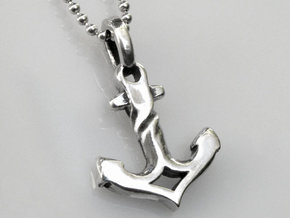 Anchor charm in 14k White Gold