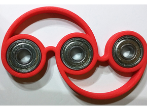 Fidget Spinner - Keep your fidgety hands occupied! in Red Strong & Flexible Polished