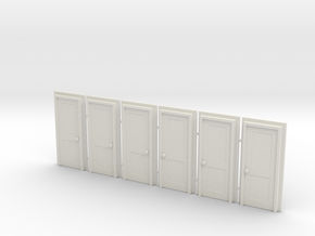 Door Type 4 - 760 X 2000 X 6 in White Natural Versatile Plastic: 1:76