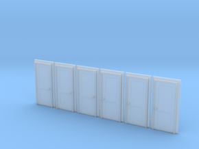 Door Type 4 - 810 X 2000 X 6 - N Scale in Frosted Ultra Detail