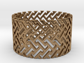 Woven Ring (Size 11.25-13) in Natural Brass: 11.25 / 64.625