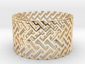 Woven Ring (Size 11.25-13) in 14k Gold Plated Brass: 11.25 / 64.625