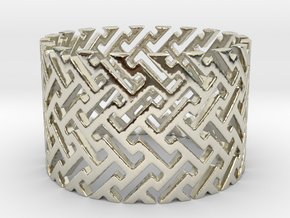 Woven Ring (Size 4-11) in 14k White Gold: 4 / 46.5