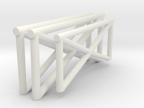 1/72 Catapult Railing in White Natural Versatile Plastic