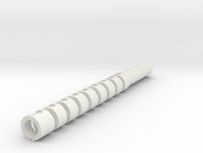 Snake-1 FBG Scaled in White Natural Versatile Plastic