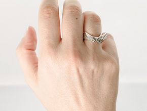 Folded Ring in Polished Silver: 6 / 51.5