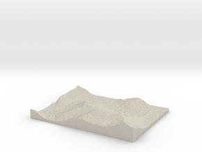 Model of Trace Creek in Sandstone
