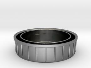 Topcon/Exakta Rear Lens Cap in Polished Silver