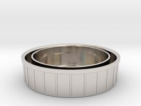 Topcon/Exakta Rear Lens Cap in Rhodium Plated Brass