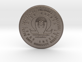 Seal of Tetragrammaton Coin of 7 Virtues Scratcher in Stainless Steel