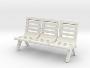 Modern Seat - Type 2 - OO Scale in White Strong & Flexible