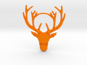 Reindeer Pattern in Orange Processed Versatile Plastic
