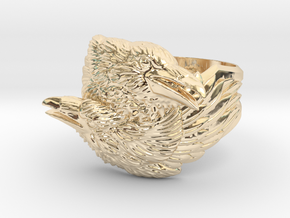 Two Ravens Ring in 14K Gold: 11.5 / 65.25