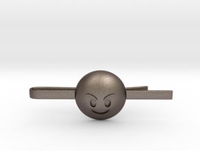 Evil Tie Clip in Polished Bronzed Silver Steel