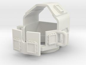 1/72 MATV Turret in White Natural Versatile Plastic