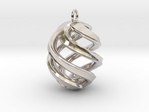 Conspire Pendant in Rhodium Plated Brass