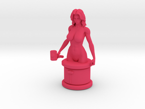 Pink Hammer Micro Bust in Pink Processed Versatile Plastic