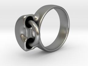 Captive in Interlocking Raw Silver: 7.75 / 55.875